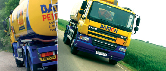 Barton Petroleum tanker with DAF logo